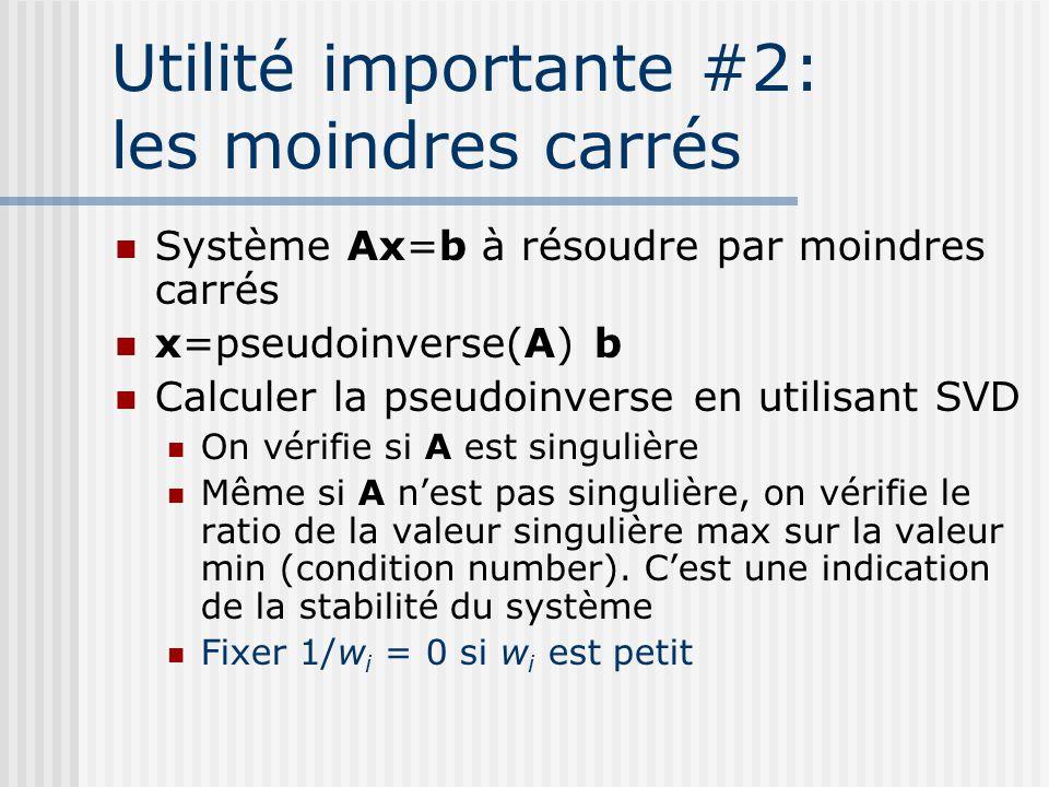 Utilité importante #2: les moindres carrés