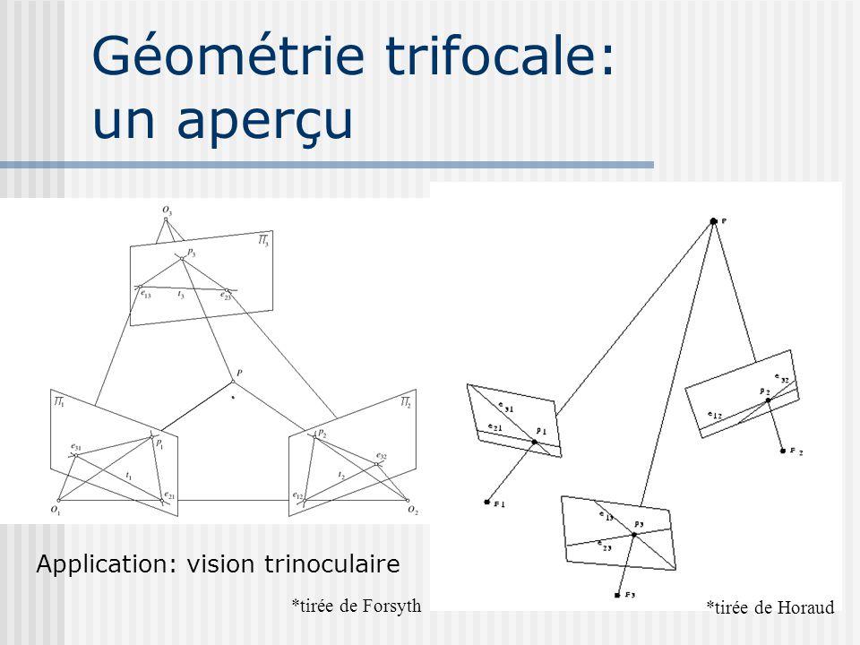 Géométrie trifocale: un aperçu