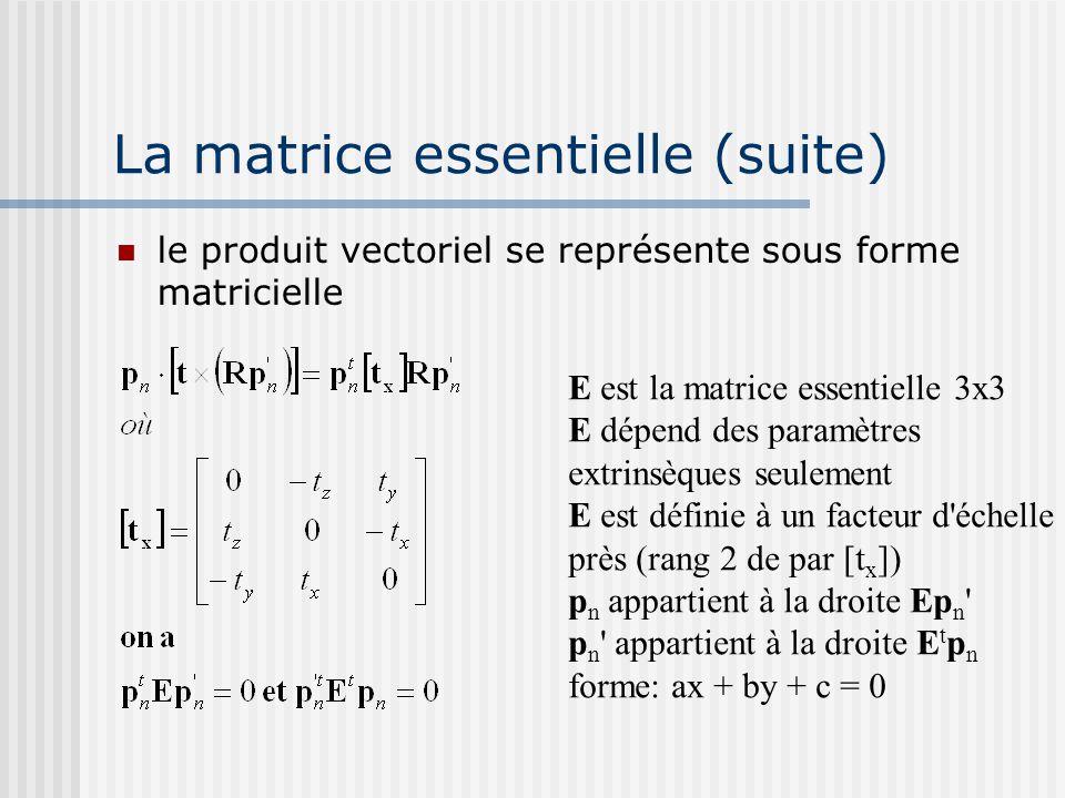 La matrice essentielle (suite)