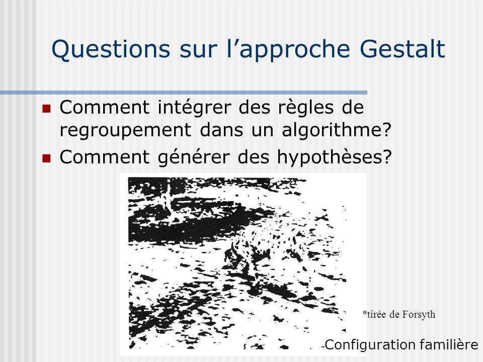 Questions sur l'approche Gestalt