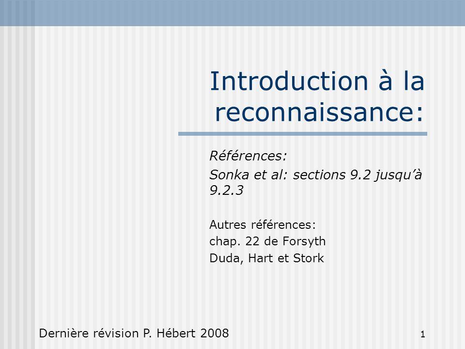 Introduction à la reconnaissance: