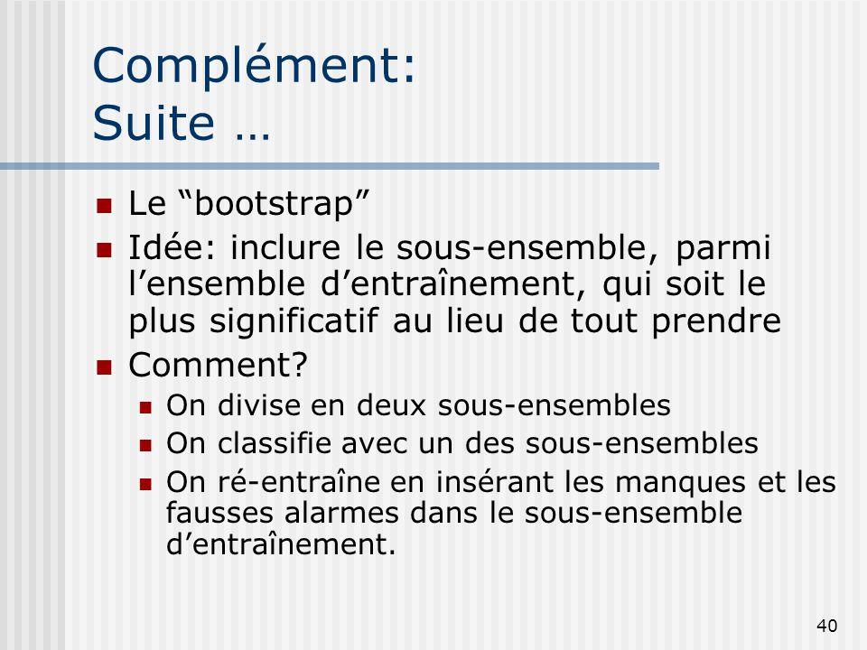 Complément: Suite … Le bootstrap