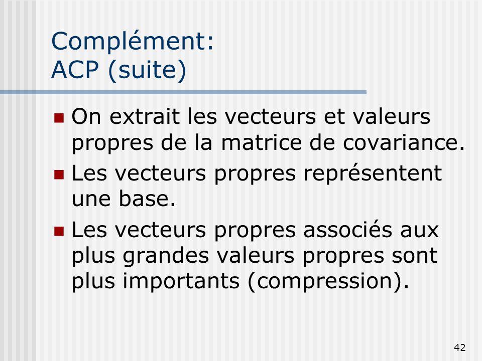Complément: ACP (suite)