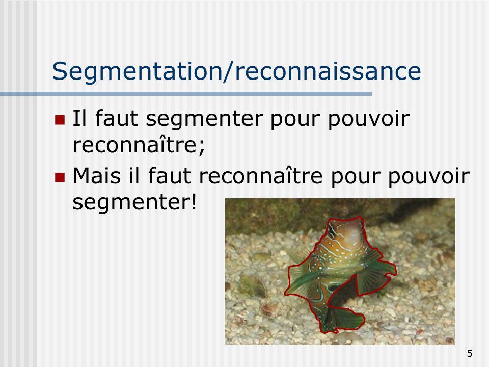Segmentation/reconnaissance