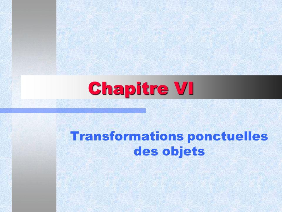 Transformations ponctuelles des objets