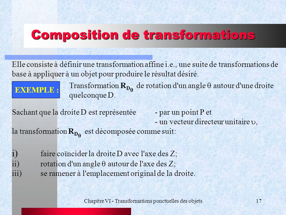 Composition de transformations