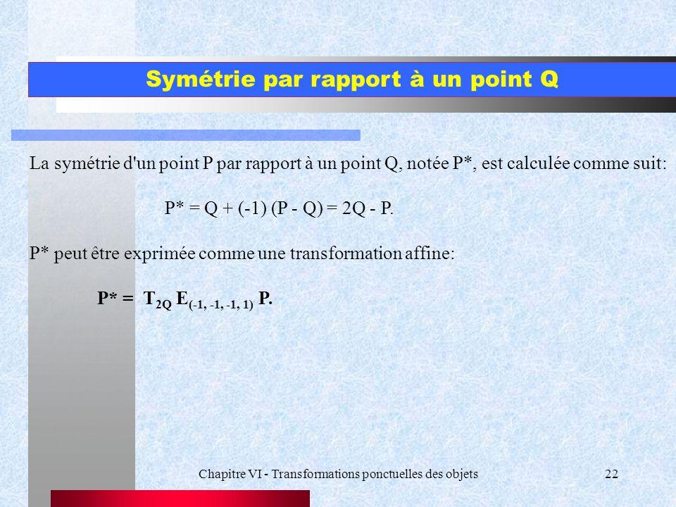 Symétrie par rapport à un point Q