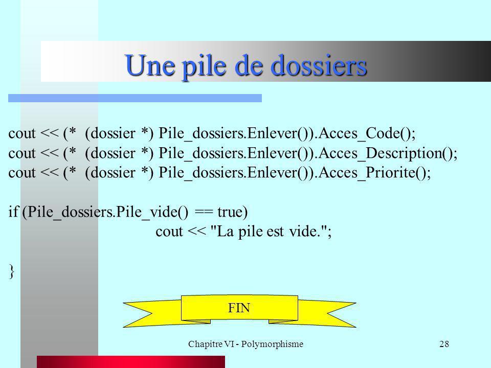 Chapitre VI - Polymorphisme