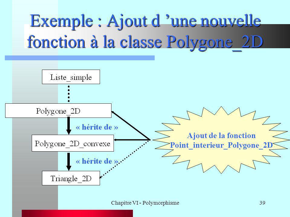 Exemple : Ajout d 'une nouvelle fonction à la classe Polygone_2D