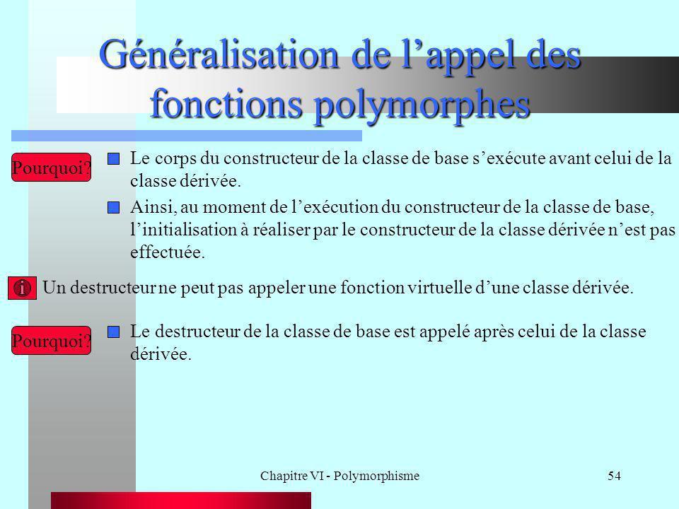 Généralisation de l'appel des fonctions polymorphes