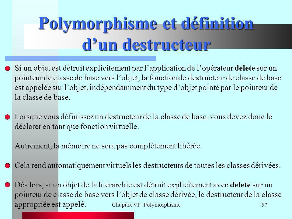 Polymorphisme et définition d'un destructeur