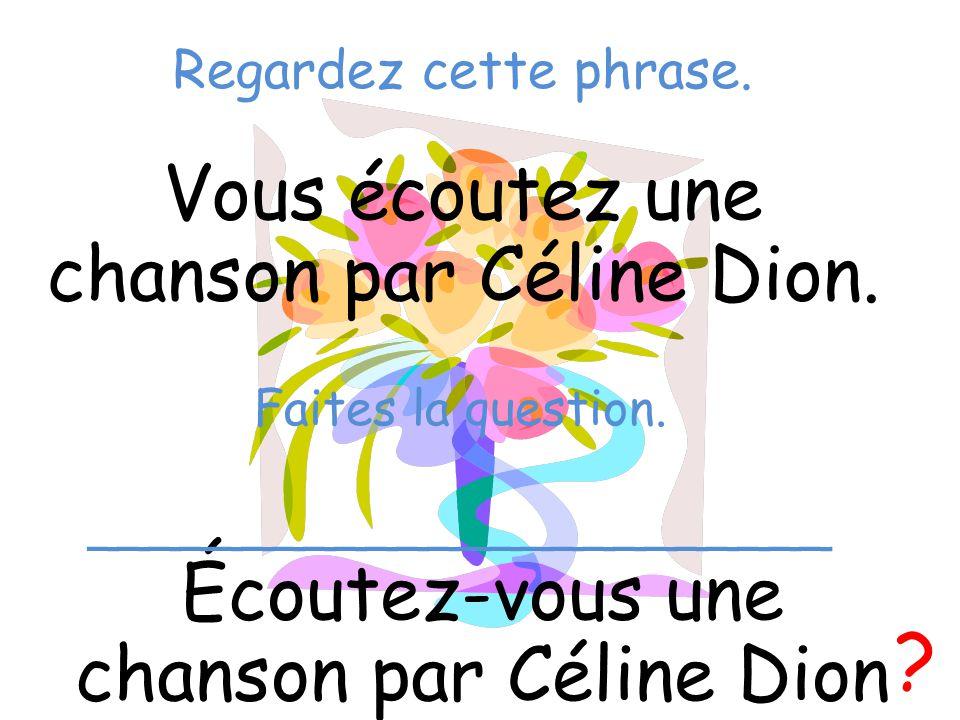 Vous écoutez une chanson par Céline Dion.