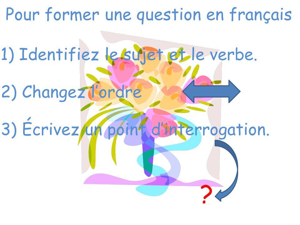 Pour former une question en français