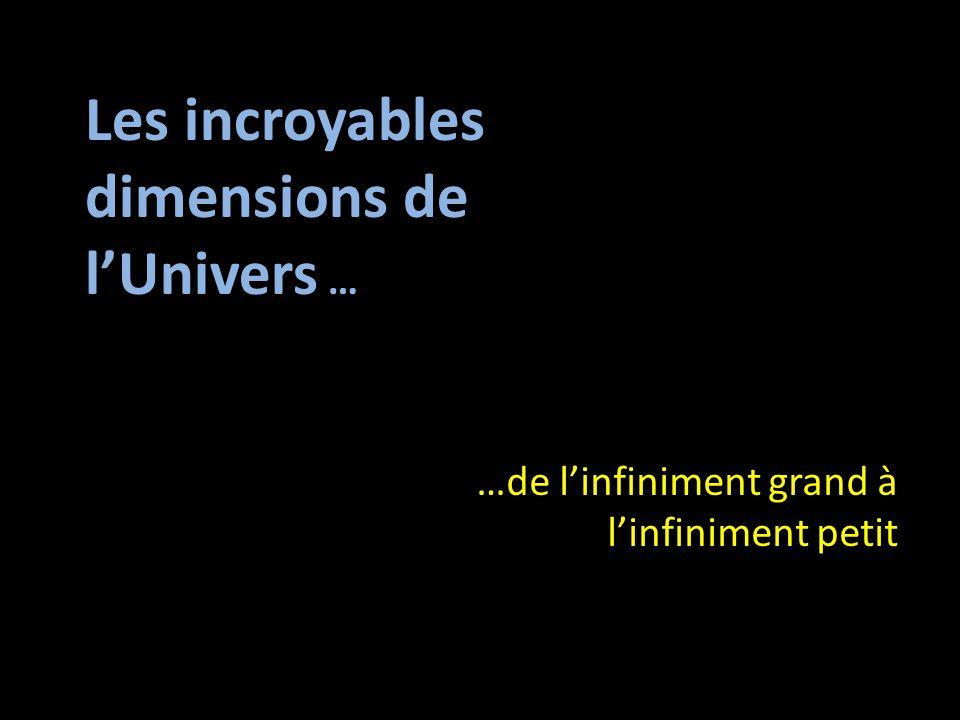 Les incroyables dimensions de l'Univers …