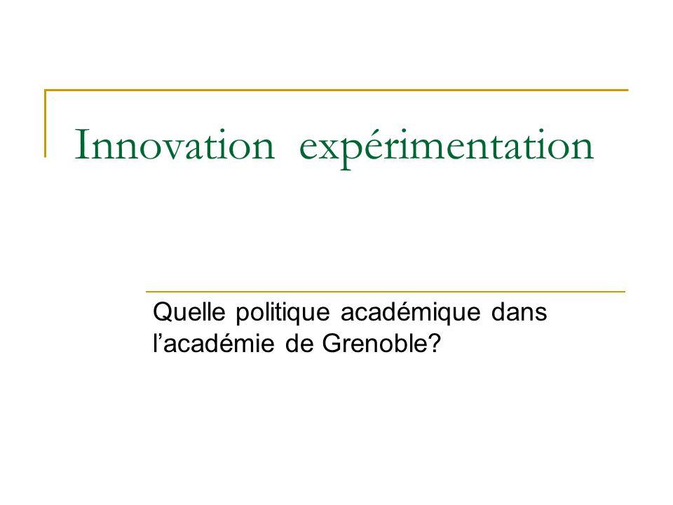Innovation expérimentation