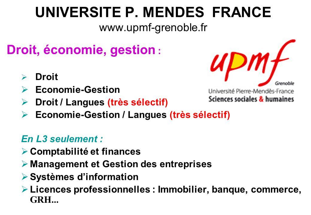 UNIVERSITE P. MENDES FRANCE www.upmf-grenoble.fr