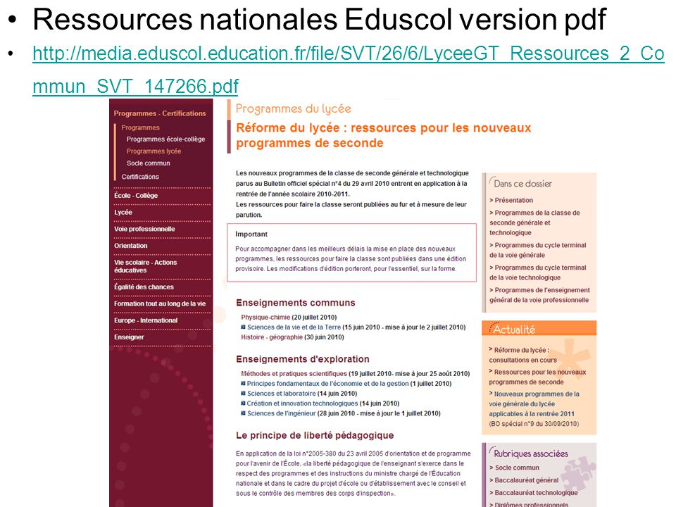 Ressources nationales Eduscol version pdf