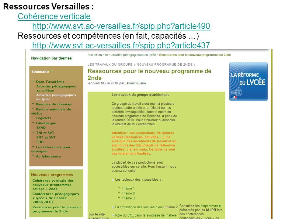Ressources Versailles :