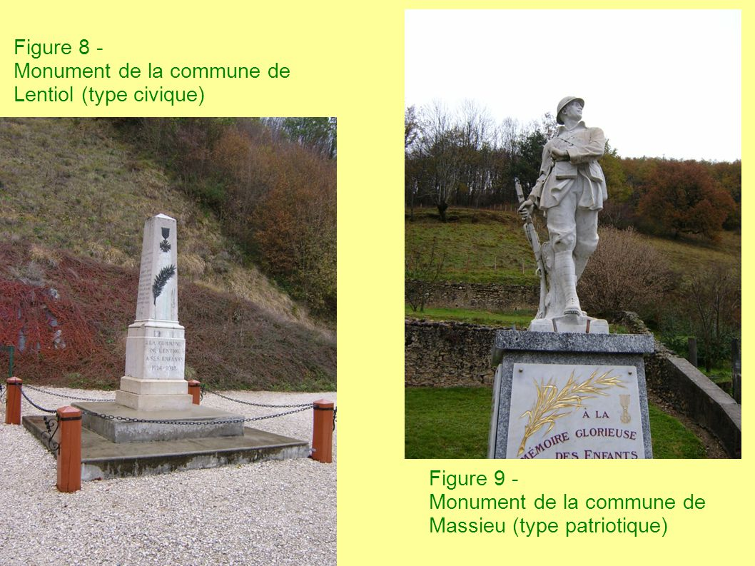 Figure 8 - Monument de la commune de Lentiol (type civique)
