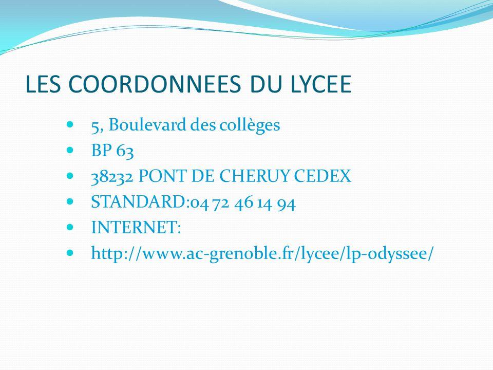 LES COORDONNEES DU LYCEE