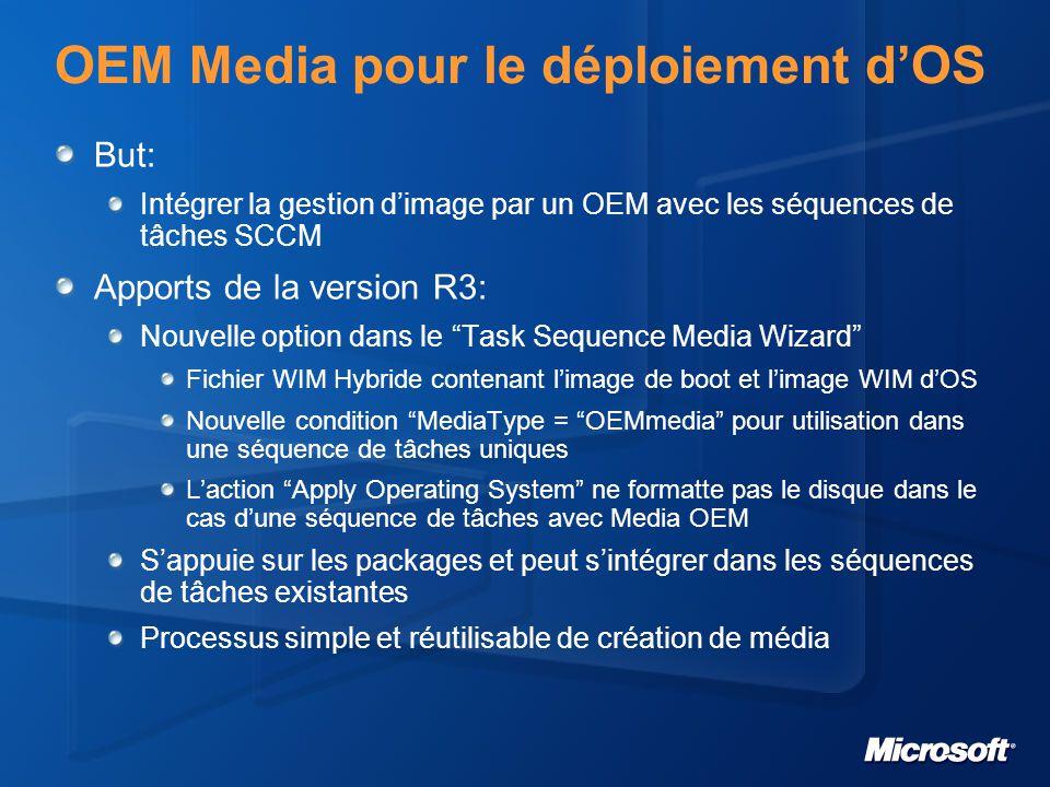 OEM Media pour le déploiement d'OS
