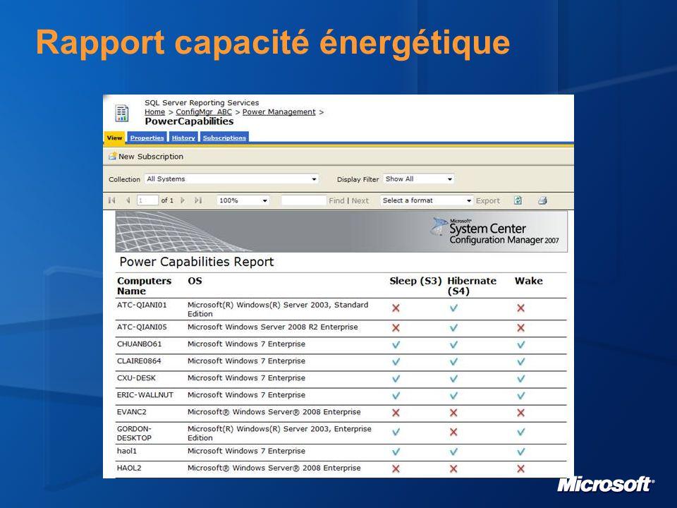 Rapport capacité énergétique