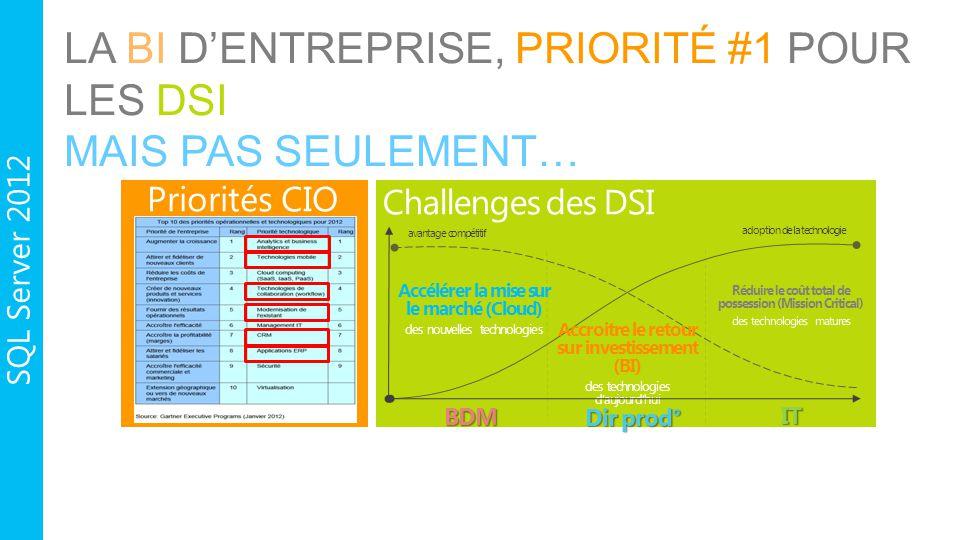 La BI d'entreprise, Priorité #1 pour les DSI Mais pas seulement…