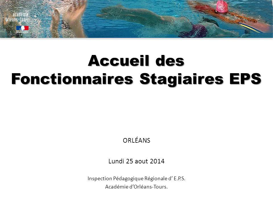 Accueil des Fonctionnaires Stagiaires EPS