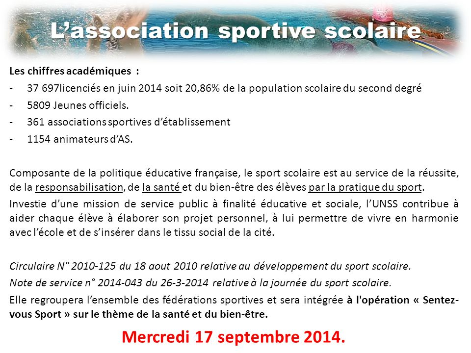 L'association sportive scolaire