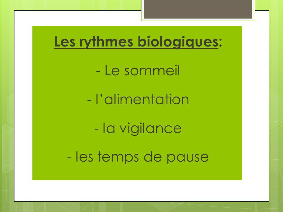 Les rythmes biologiques: