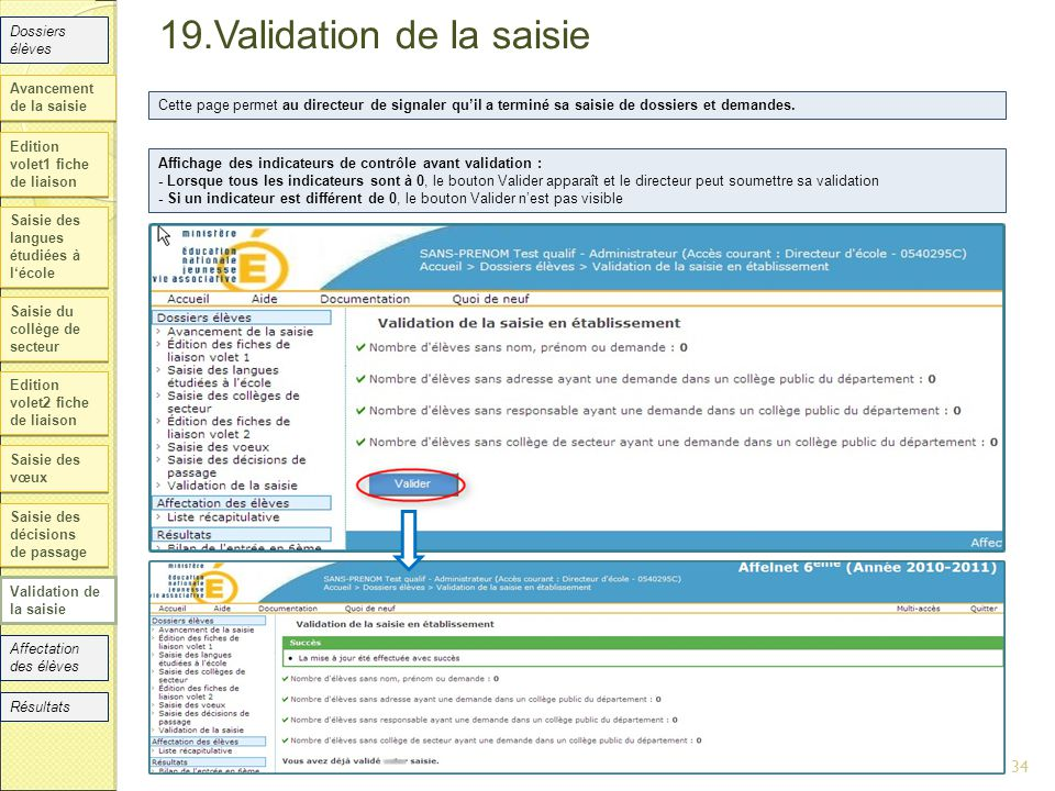19.Validation de la saisie