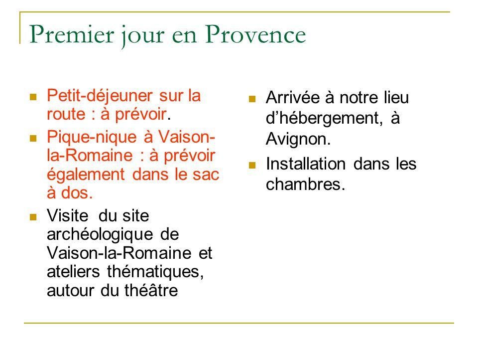 Premier jour en Provence
