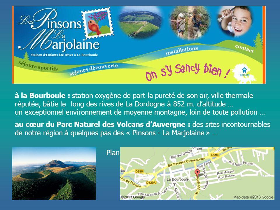 à la Bourboule : station oxygène de part la pureté de son air, ville thermale réputée, bâtie le long des rives de La Dordogne à 852 m. d'altitude …