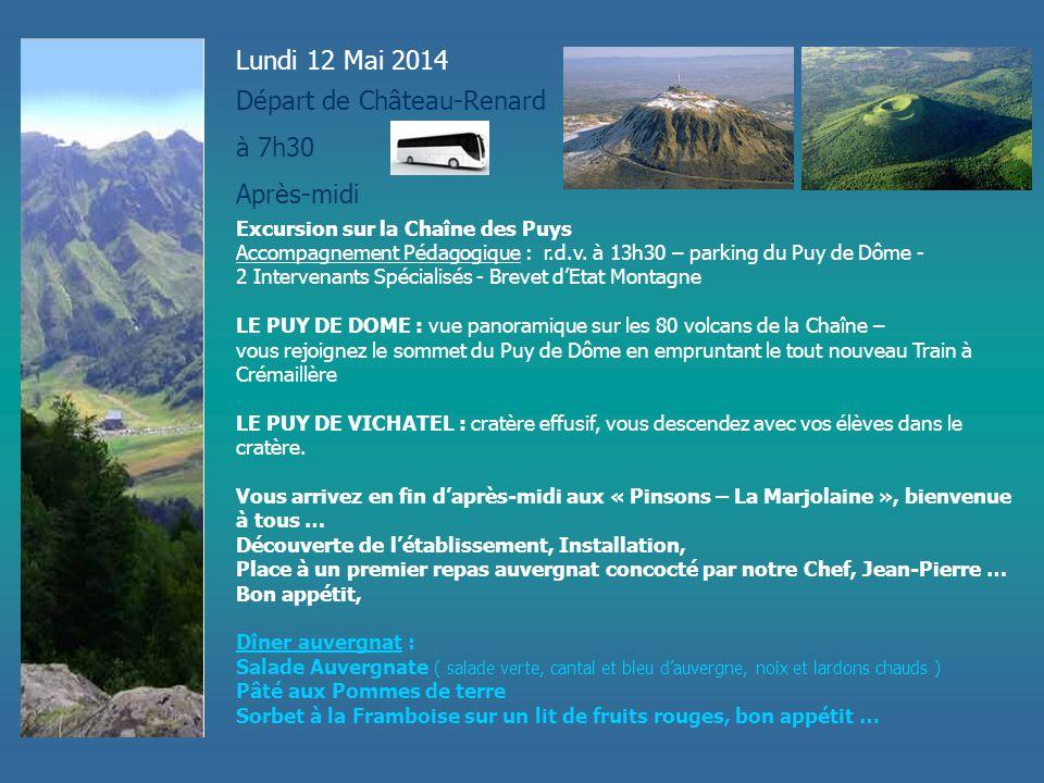 Départ de Château-Renard à 7h30 Après-midi