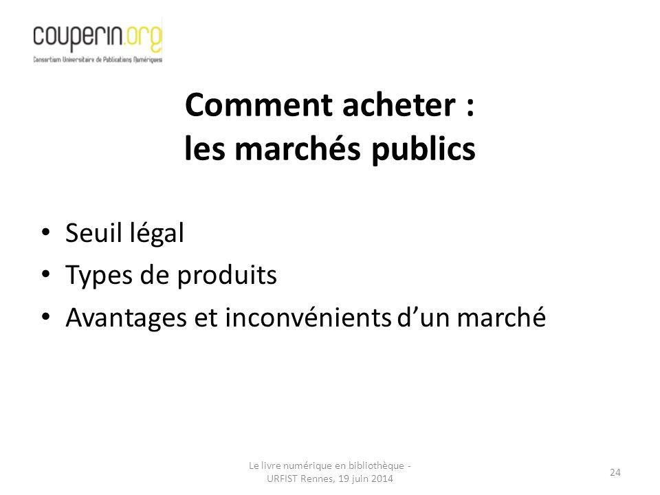 Comment acheter : les marchés publics