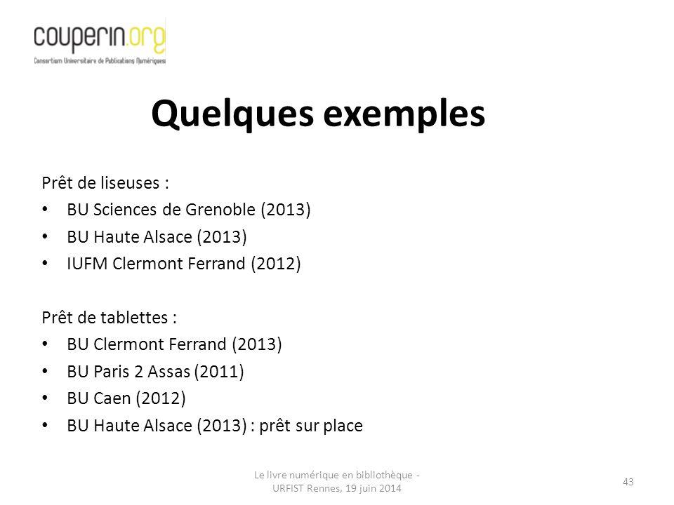 Le livre numérique en bibliothèque - URFIST Rennes, 19 juin 2014