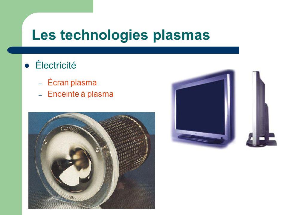 Les technologies plasmas