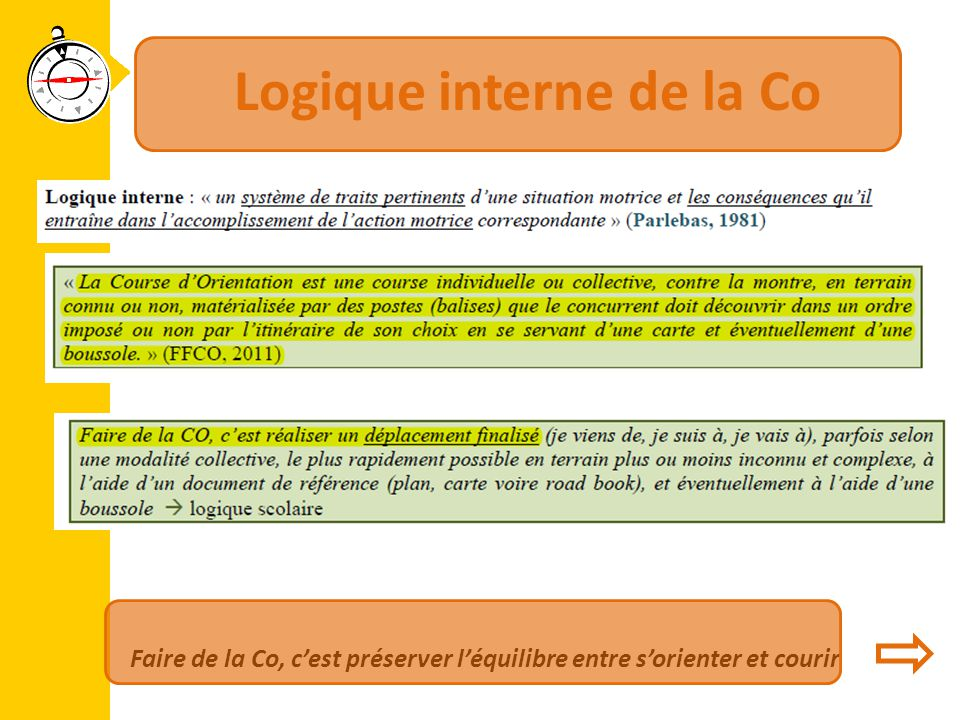 Logique interne de la Co