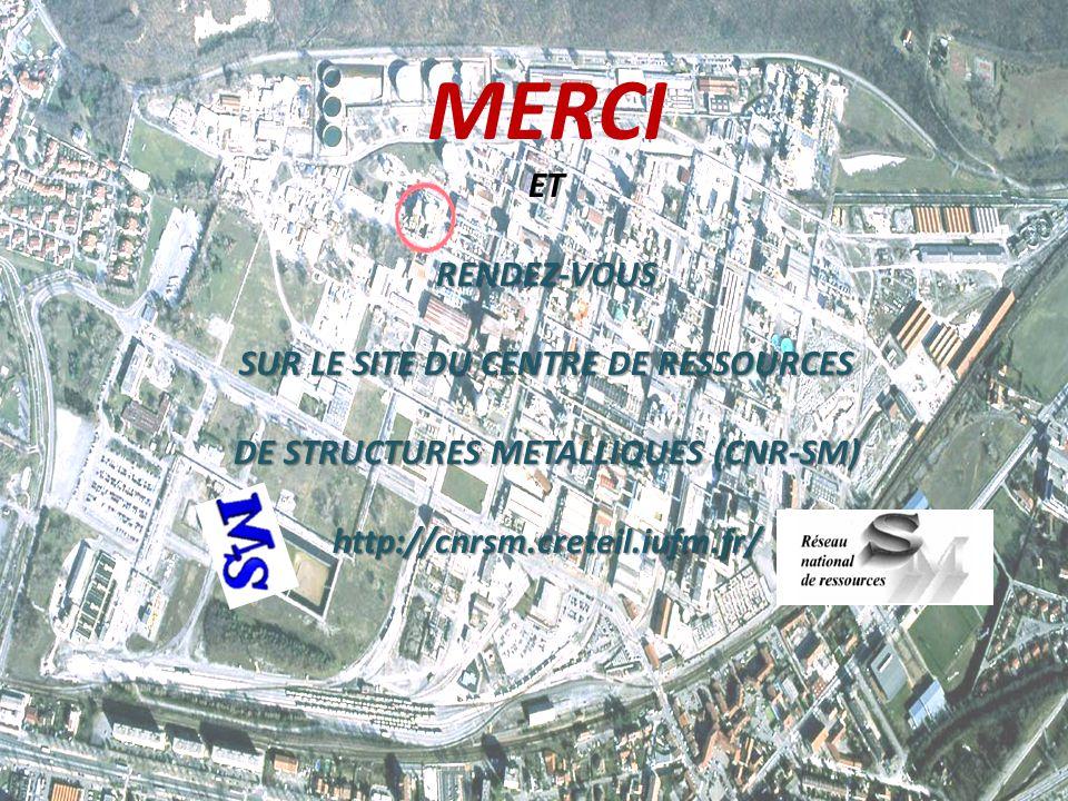SUR LE SITE DU CENTRE DE RESSOURCES DE STRUCTURES METALLIQUES (CNR-SM)