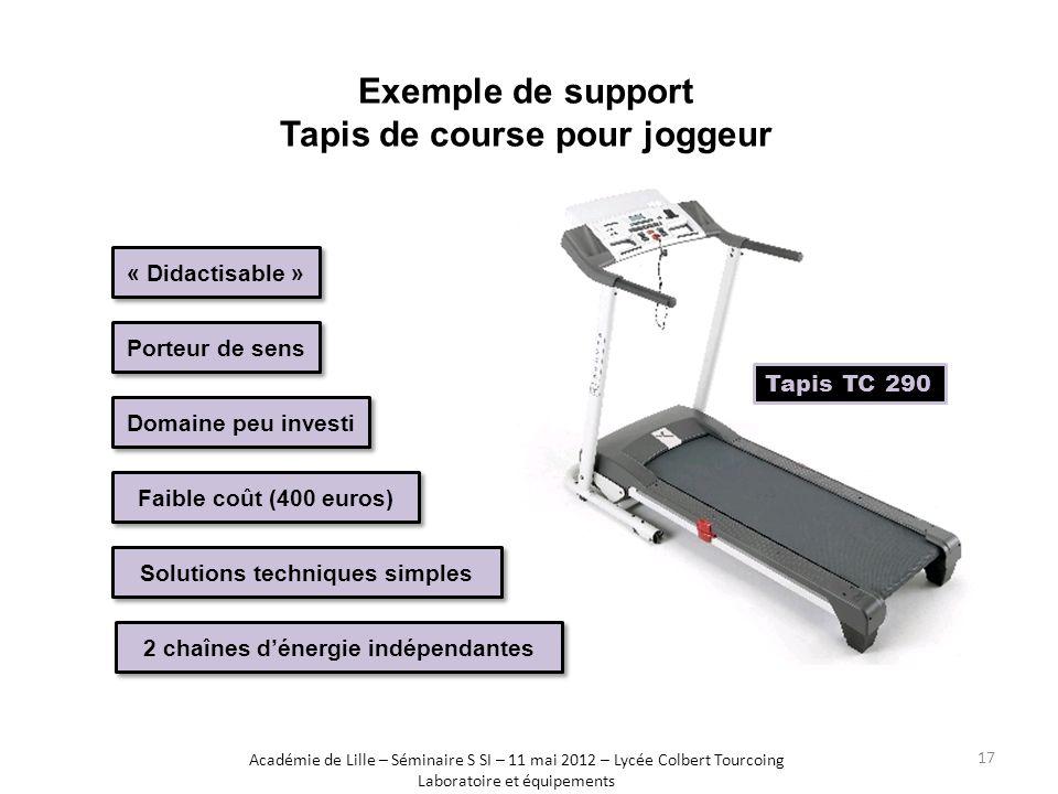 Exemple de support Tapis de course pour joggeur