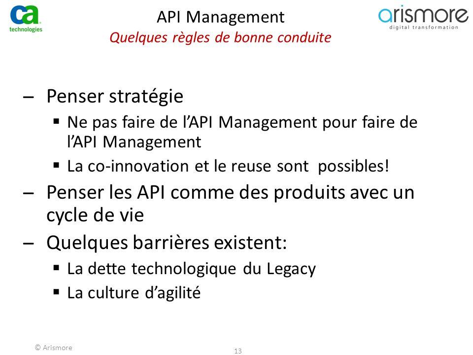 API Management Quelques règles de bonne conduite