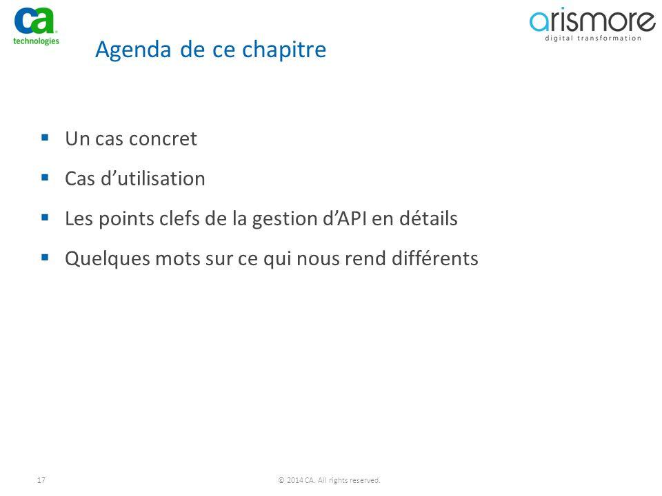 Agenda de ce chapitre Un cas concret Cas d'utilisation