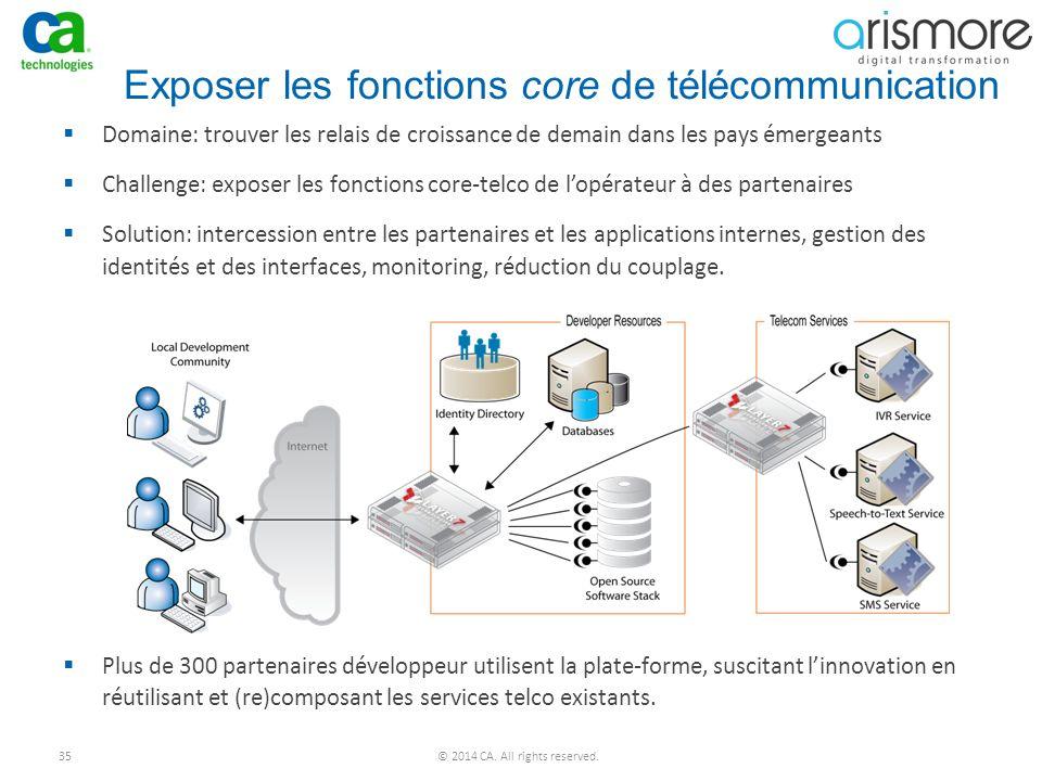 Exposer les fonctions core de télécommunication