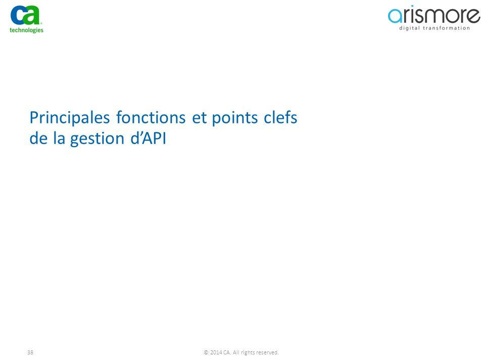 Principales fonctions et points clefs de la gestion d'API