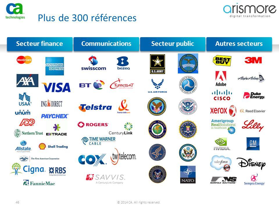 Plus de 300 références Secteur finance Communications Secteur public