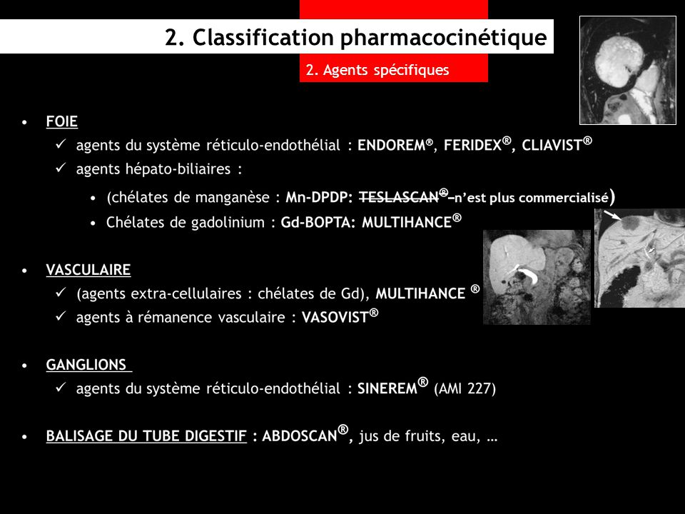 2. Classification pharmacocinétique