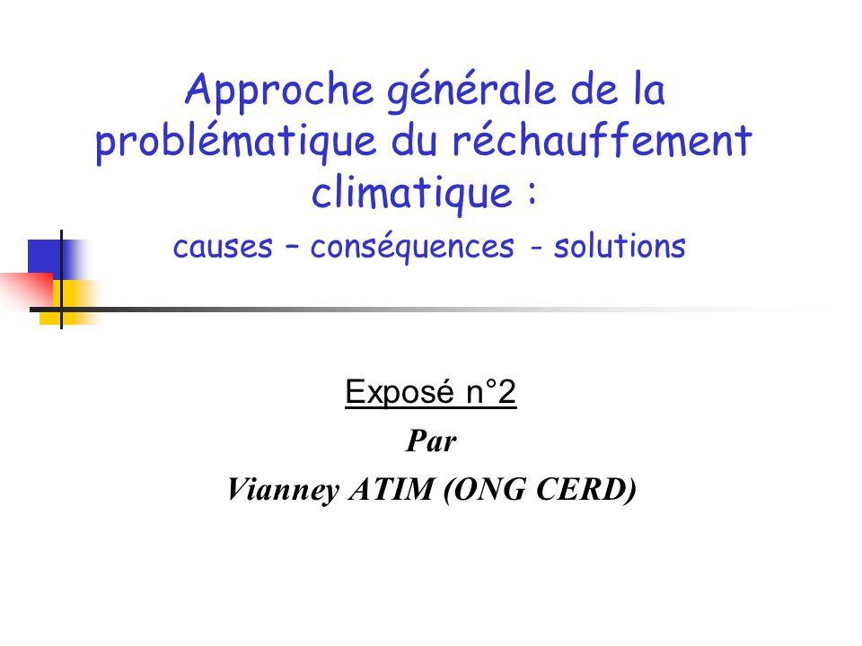 Exposé n°2 Par Vianney ATIM (ONG CERD)