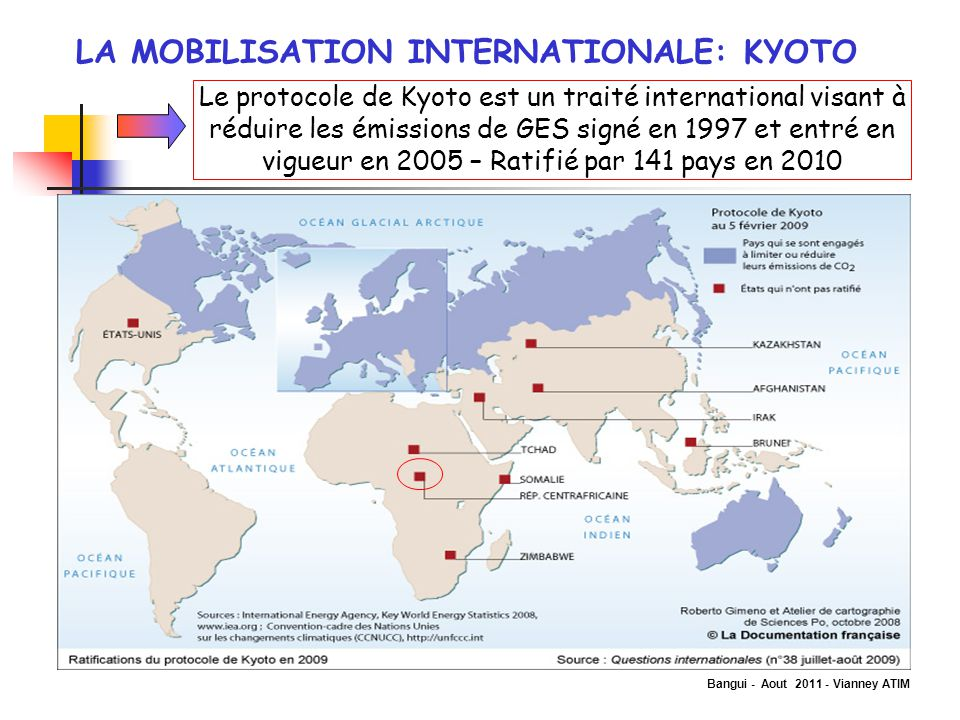 LA MOBILISATION INTERNATIONALE: KYOTO