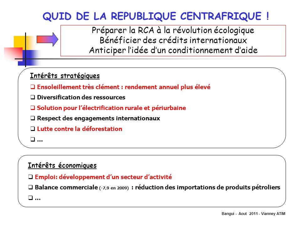 QUID DE LA REPUBLIQUE CENTRAFRIQUE !