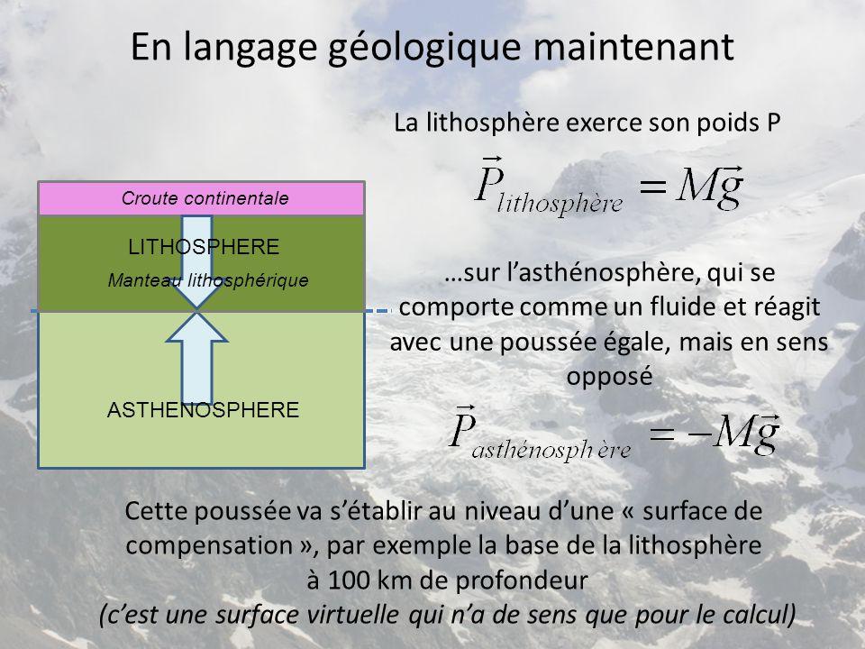 En langage géologique maintenant